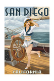San Diego  California - Sailor Pinup