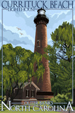 Currituck Beach Lighthouse Day Scene - Outer Banks  North Carolina