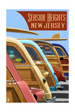 Seaside Heights  New Jersey - Woodies Lined Up