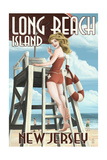 Long Beach Island  New Jersey - Lifeguard Pinup Girl