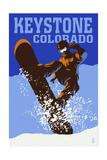 Keystone  Colorado - Colorblocked Snowboarder