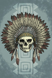 Indian Chief Skull and Headdress