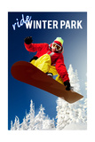 Winter Park  Colorado - Snowboarder