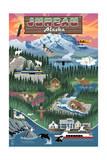Juneau  Alaska - Retro Scenes