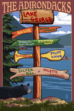 The Adirondacks - Lake George  New York - Sign Destinations