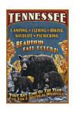 Tennessee - Black Bears Vintage Sign