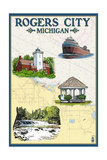 Rogers City  Michigan - Nautical Chart