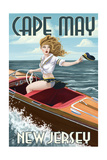 Cape May  New Jersey - Boating Pinup Girl