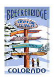 Breckenridge  Colorado - Snow Signpost
