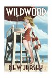 Wildwood  New Jersey - Lifeguard Pinup Girl