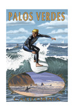 Palos Verdes  California - Surfer