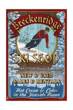 Breckenridge  Colorado - Ski Shop Vintage Sign