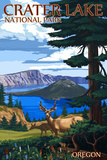 Crater Lake National Park  Oregon - Deer Family