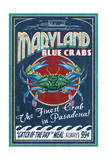 Pasadena  Maryland - Blue Crabs Vintage Sign