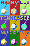 Banjo Pop Art - Nashville  Tennessee