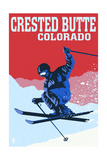 Crested Butte  Colorado - Colorblocked Skier