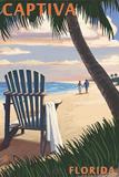 Captiva  Florida - Adirondack Chair on the Beach