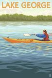 Lake George  New York - Kayak Scene