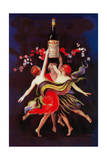 Women Dancing with Wine