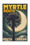 Myrtle Beach  South Carolina - Palmetto Moon and Palm