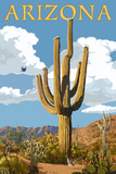 Arizona - Saguaro and Roadrunner