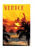 Venice  Florida - Sunset and Ship