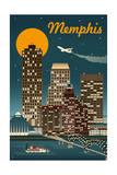 Memphis  Tennessee - Retro Skyline