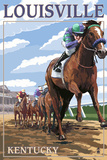 Louisville  Kentucky - Horse Racing Track Scene