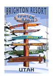 Brighton Resort  Utah - Ski Signpost