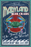 Maryland - Blue Crabs Vintage Sign