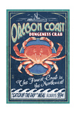 Oregon Coast - Dungeness Crab Vintage Sign