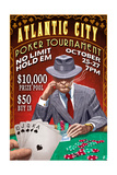 Atlantic City - Poker Tournament Vintage Sign