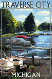 Traverse City  Michigan - Pontoon Boats