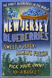 New Jersey - Blueberry Farm Vintage Sign