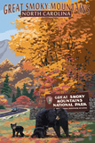 Great Smoky Mountains - Park Entrance and Bear Family