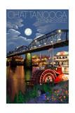 Chattanooga  Tennessee - Skyline at Night