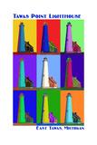 Pop Art - Tawas Point Lighthouse - East Tawas  Michigan