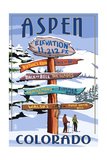 Aspen  Colorado - Ski Signpost