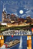 Nashville at Night - Nashville  Tennessee
