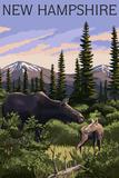 New Hampshire - Moose and Calf