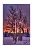 Ketchikan  Alaska - Tree in Snow