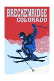 Breckenridge  Colorado - Colorblocked Skier