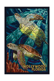 Hollywood  Florida - Sea Turtle Mosaic