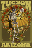 Tucson  Arizona - Day of the Dead - Skeleton Holding Sugar Skull