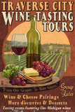 Traverse City  Michigan - Wine Tasting Vintage Sign