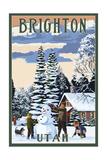 Brighton Resort  Utah - Snowman Scene