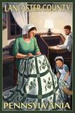 Lancaster County  Pennsylvania - Amish Quilting Scene