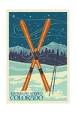 Steamboat Springs  Colorado - Crossed Skis