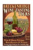 Breckenridge  Colorado - Wine Tasting Vintage Sign