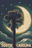 South Carolina - Palmetto Moon and Palm